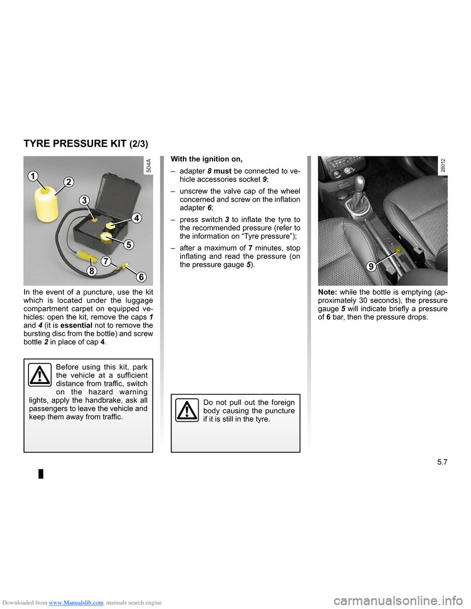 RENAULT CLIO 2009 X85 / 3.G Owners Manual, Page 195