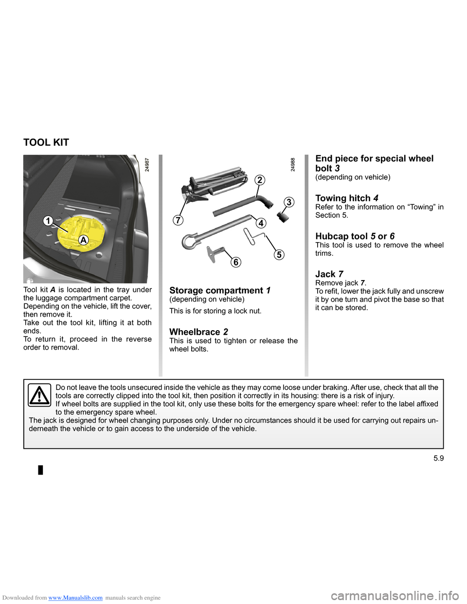 RENAULT CLIO 2009 X85 / 3.G Owners Manual, Page 197