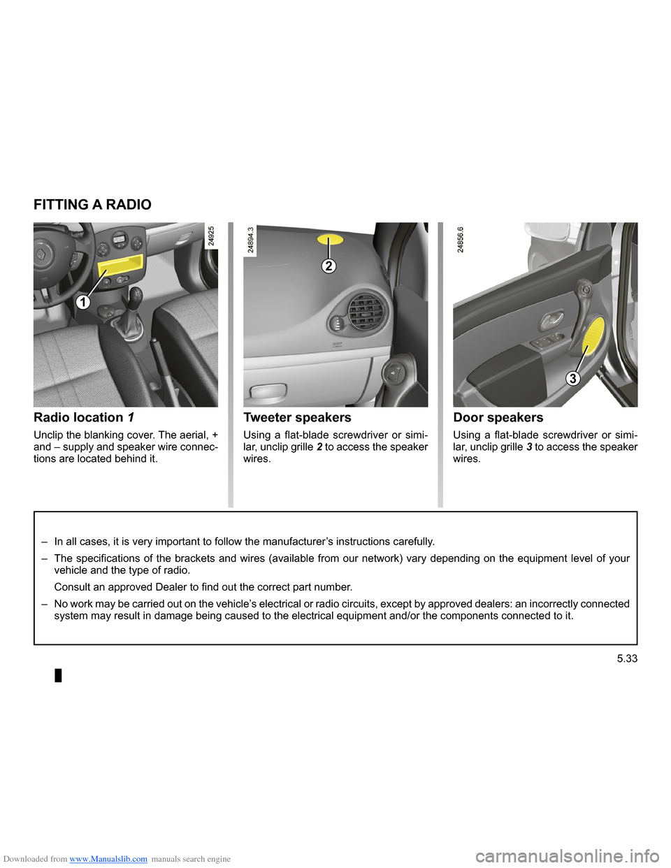 RENAULT CLIO 2009 X85 / 3.G Owners Manual, Page 221