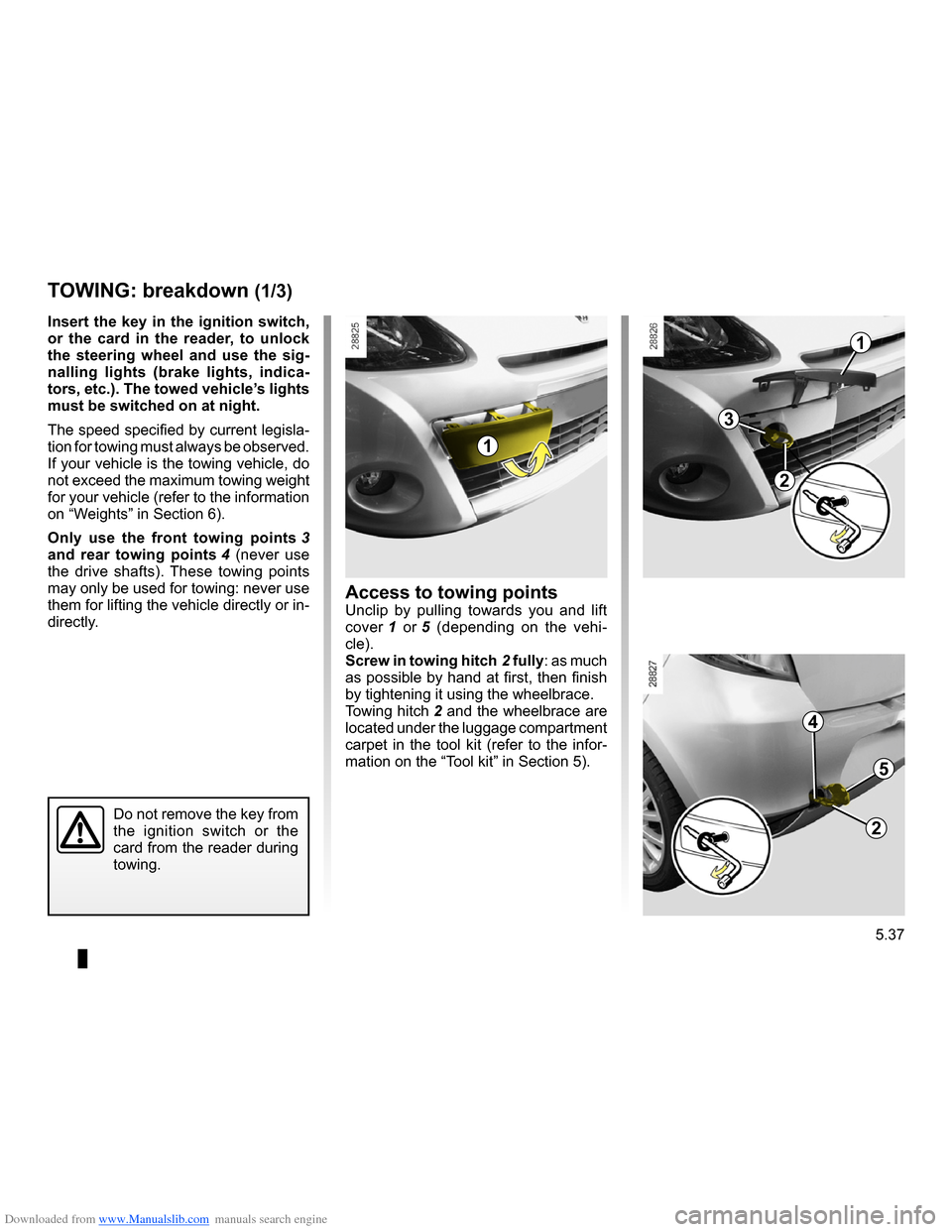RENAULT CLIO 2009 X85 / 3.G Owners Manual, Page 225