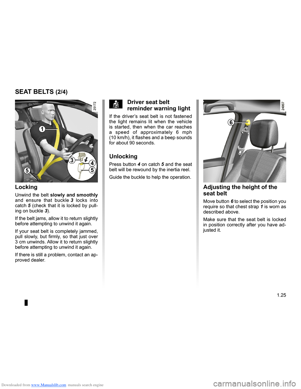 RENAULT CLIO 2009 X85 / 3.G Owners Manual, Page 31
