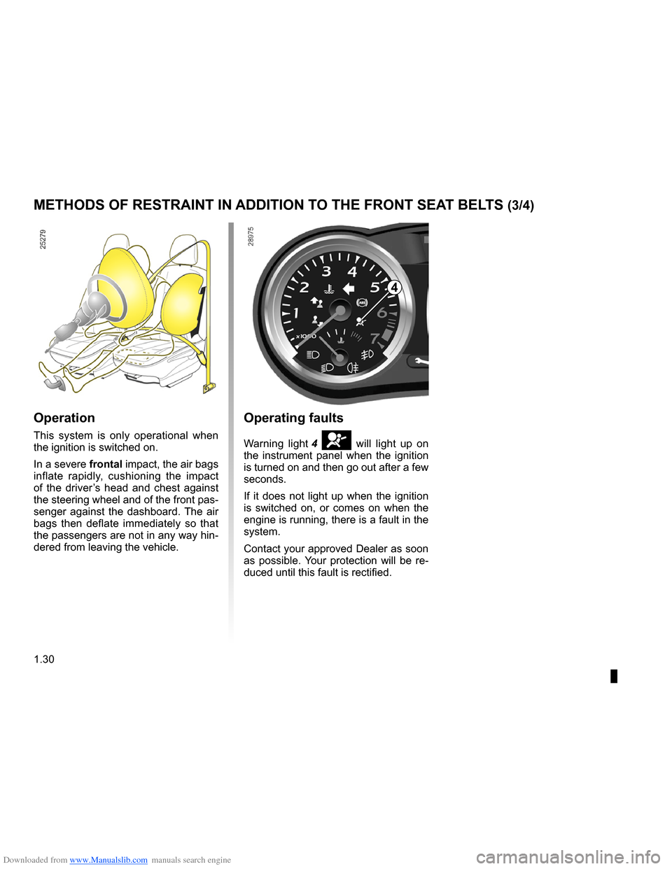 RENAULT CLIO 2009 X85 / 3.G Owners Manual, Page 36