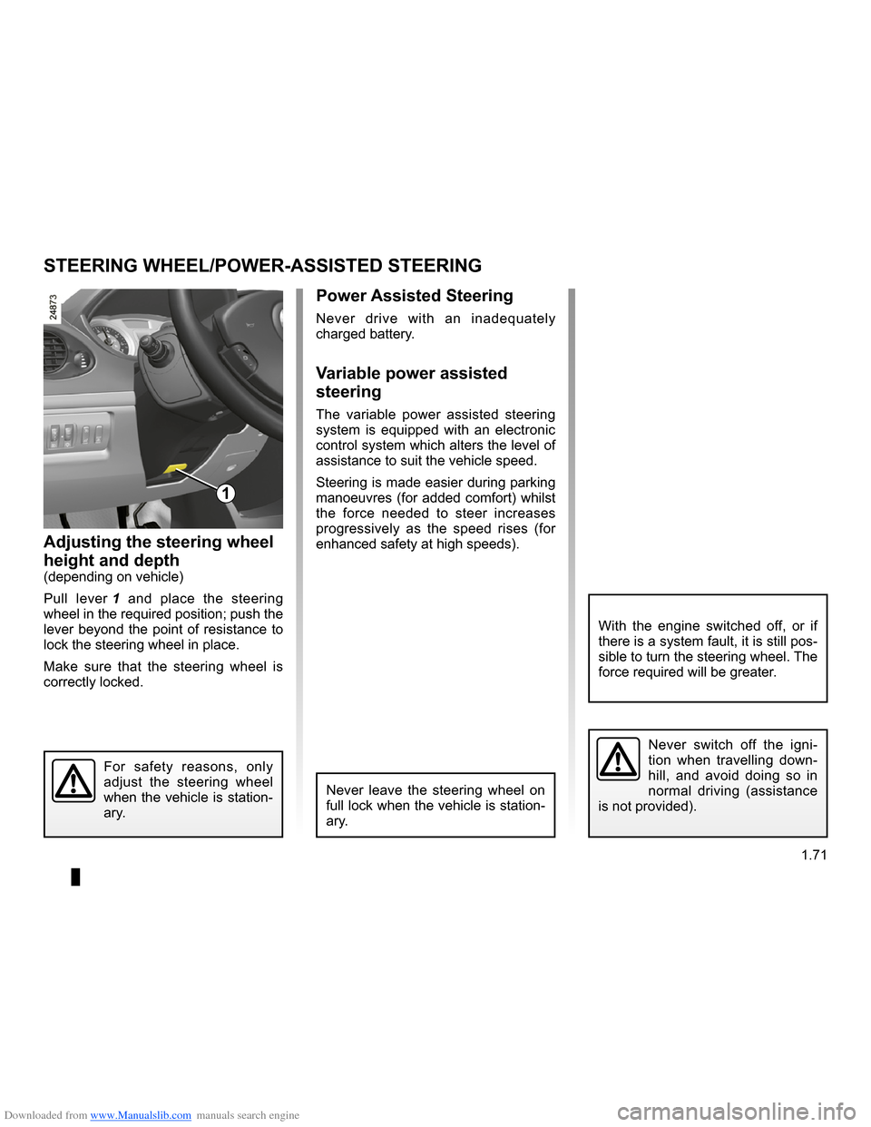 RENAULT CLIO 2009 X85 / 3.G Owners Manual, Page 77