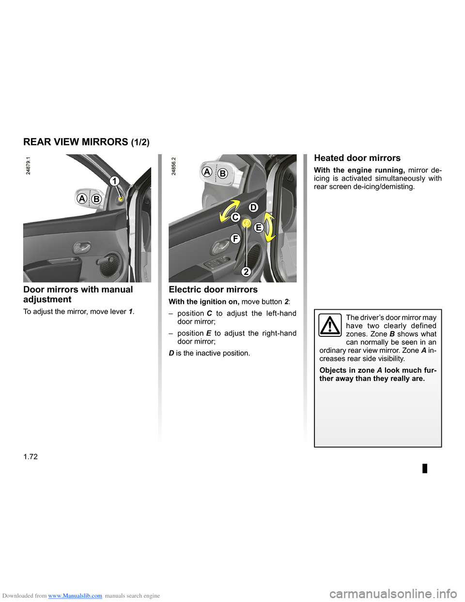 RENAULT CLIO 2009 X85 / 3.G Owners Manual, Page 78