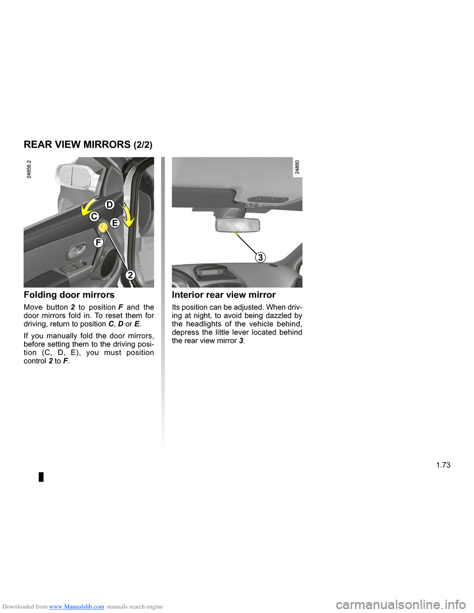 RENAULT CLIO 2009 X85 / 3.G Owners Manual, Page 79