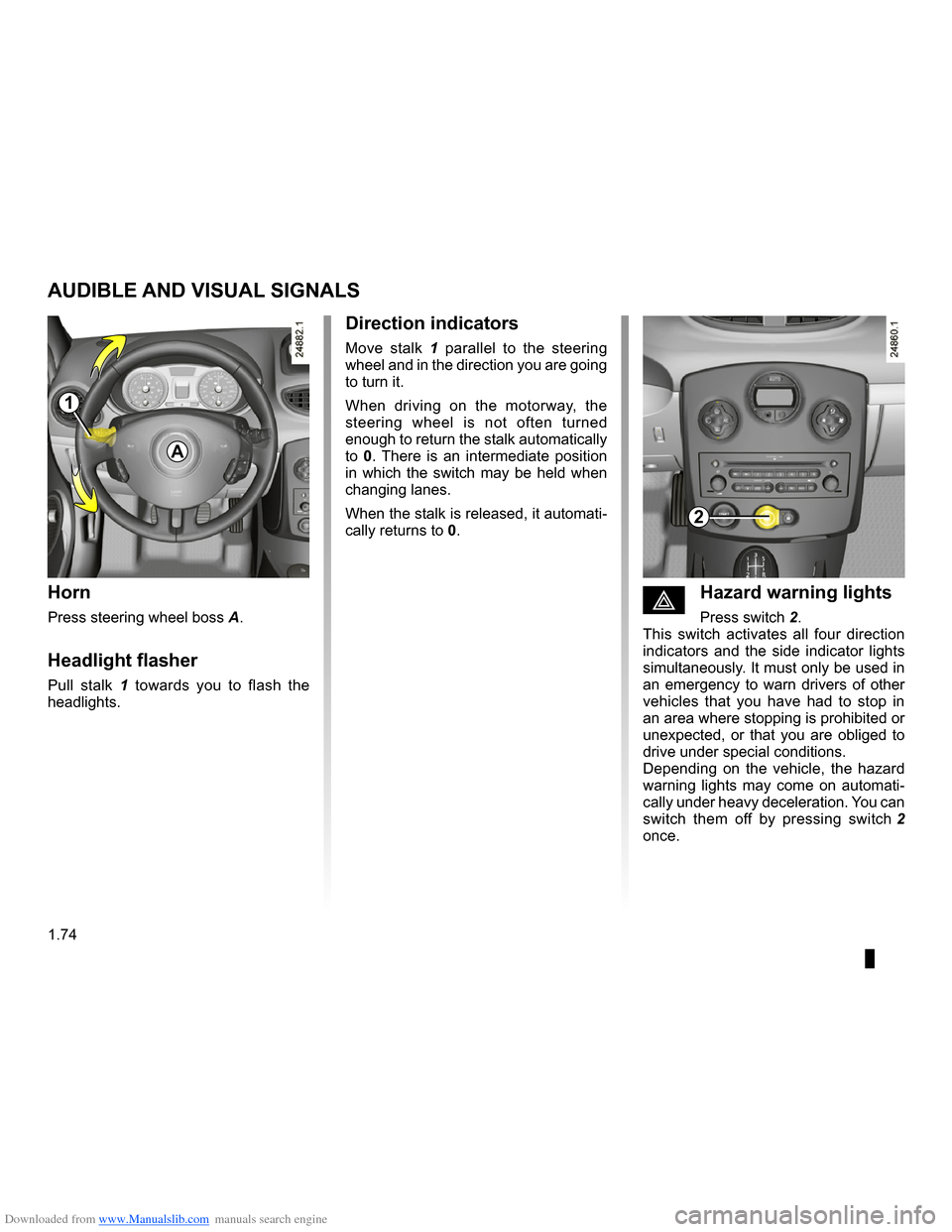 RENAULT CLIO 2009 X85 / 3.G Owners Manual, Page 80