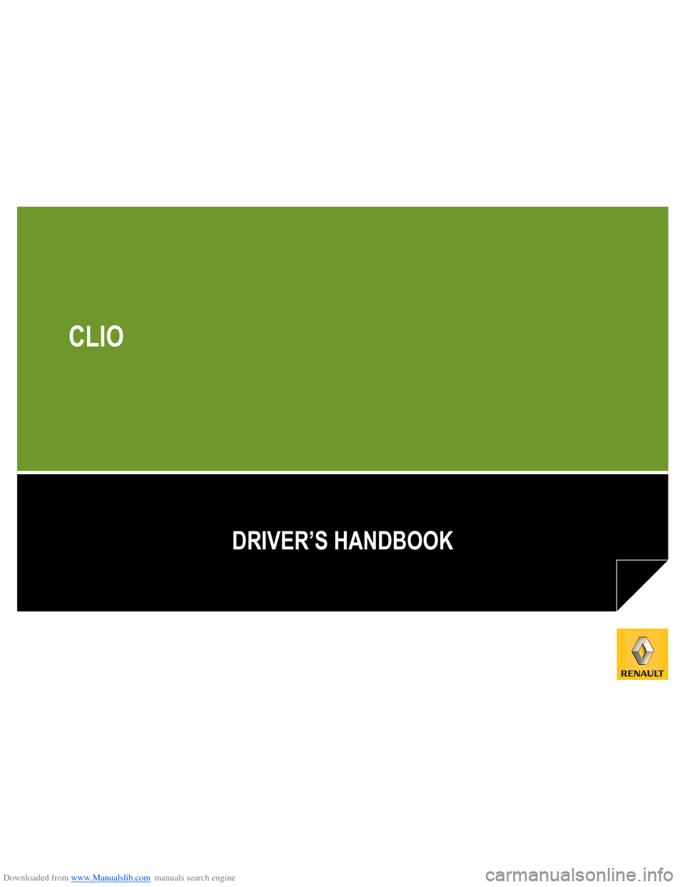 RENAULT CLIO 2012 X85 / 3.G Owners Manual, Page 1