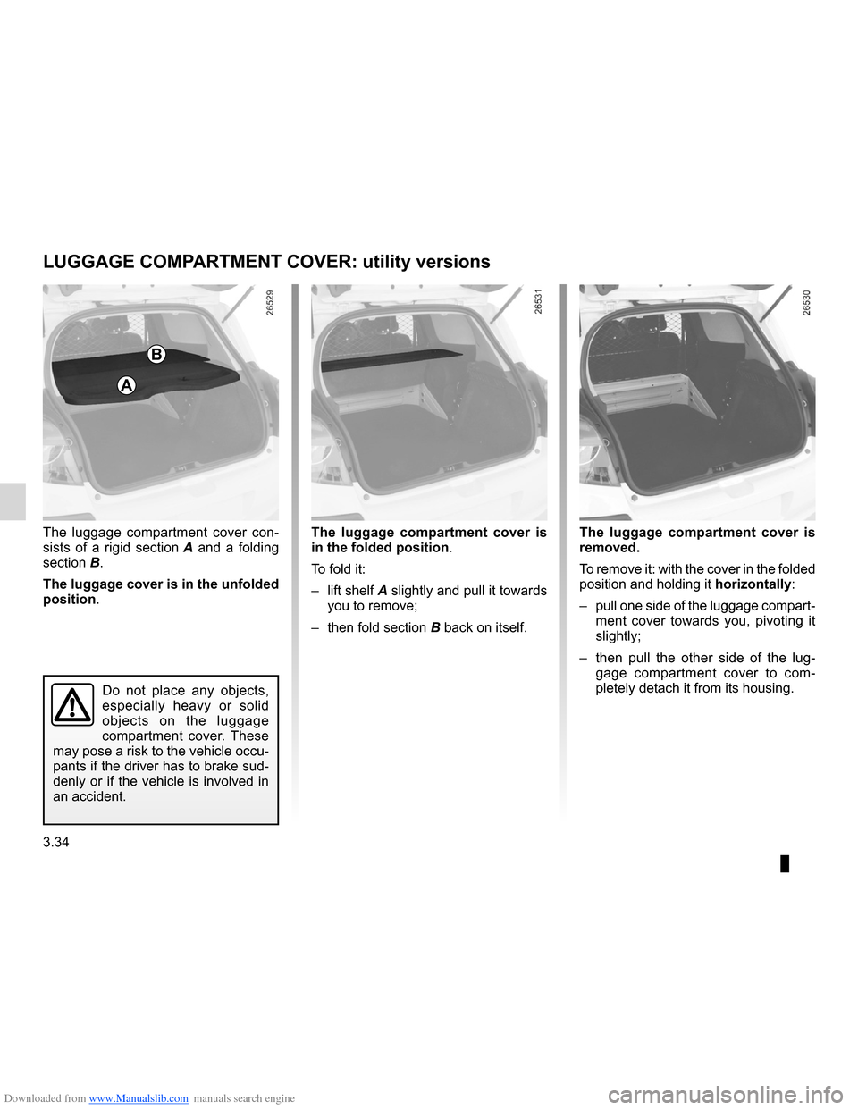 RENAULT CLIO 2012 X85 / 3.G Owners Manual, Page 168