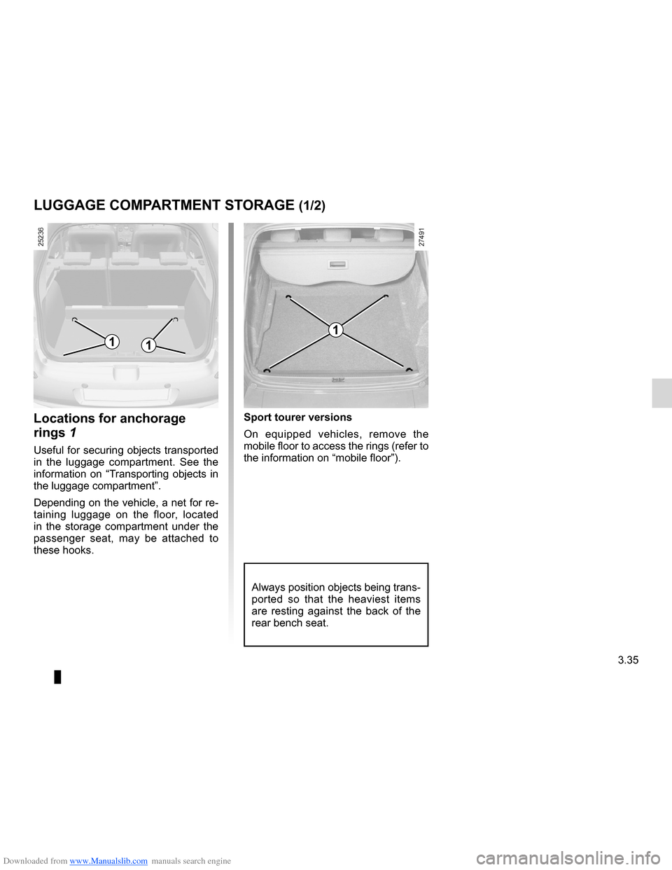 RENAULT CLIO 2012 X85 / 3.G Owners Manual, Page 169