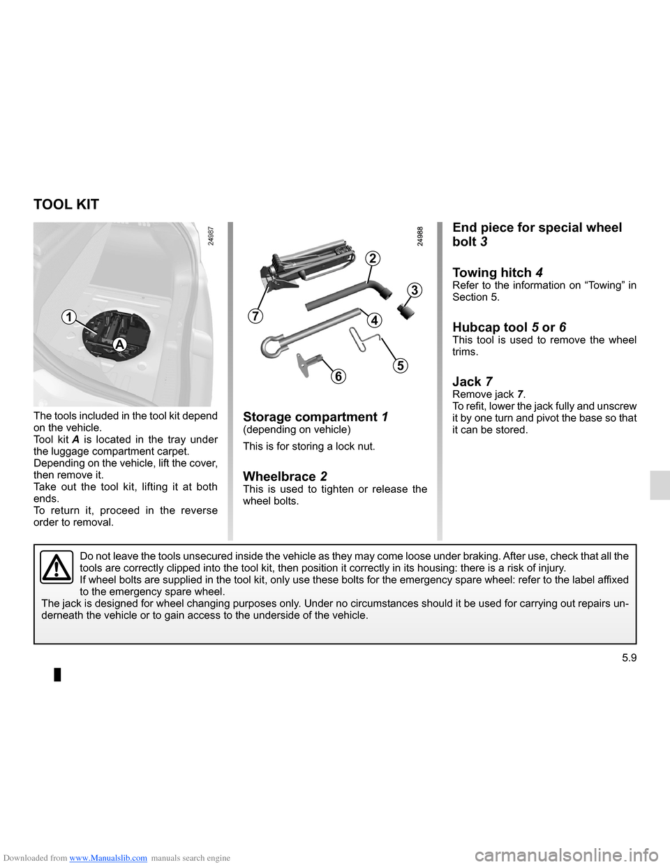 RENAULT CLIO 2012 X85 / 3.G Owners Manual, Page 201