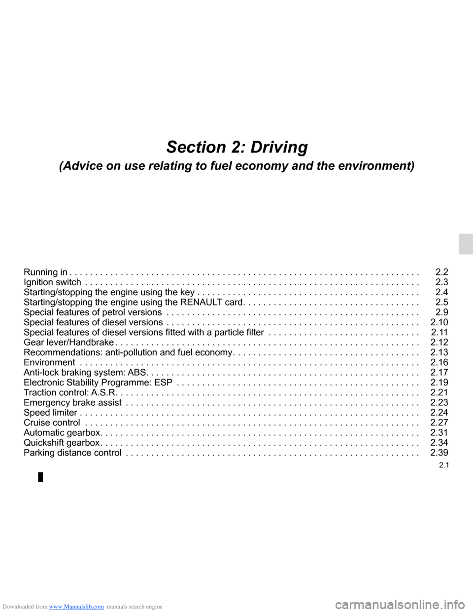 RENAULT CLIO 2012 X85 / 3.G Owners Manual, Page 95