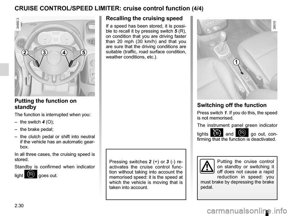 RENAULT CLIO SPORT TOURER 2012 X85 / 3.G Owners Manual, Page 124