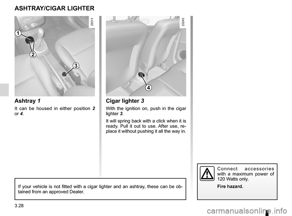 RENAULT CLIO SPORT TOURER 2012 X85 / 3.G Owners Manual, Page 158