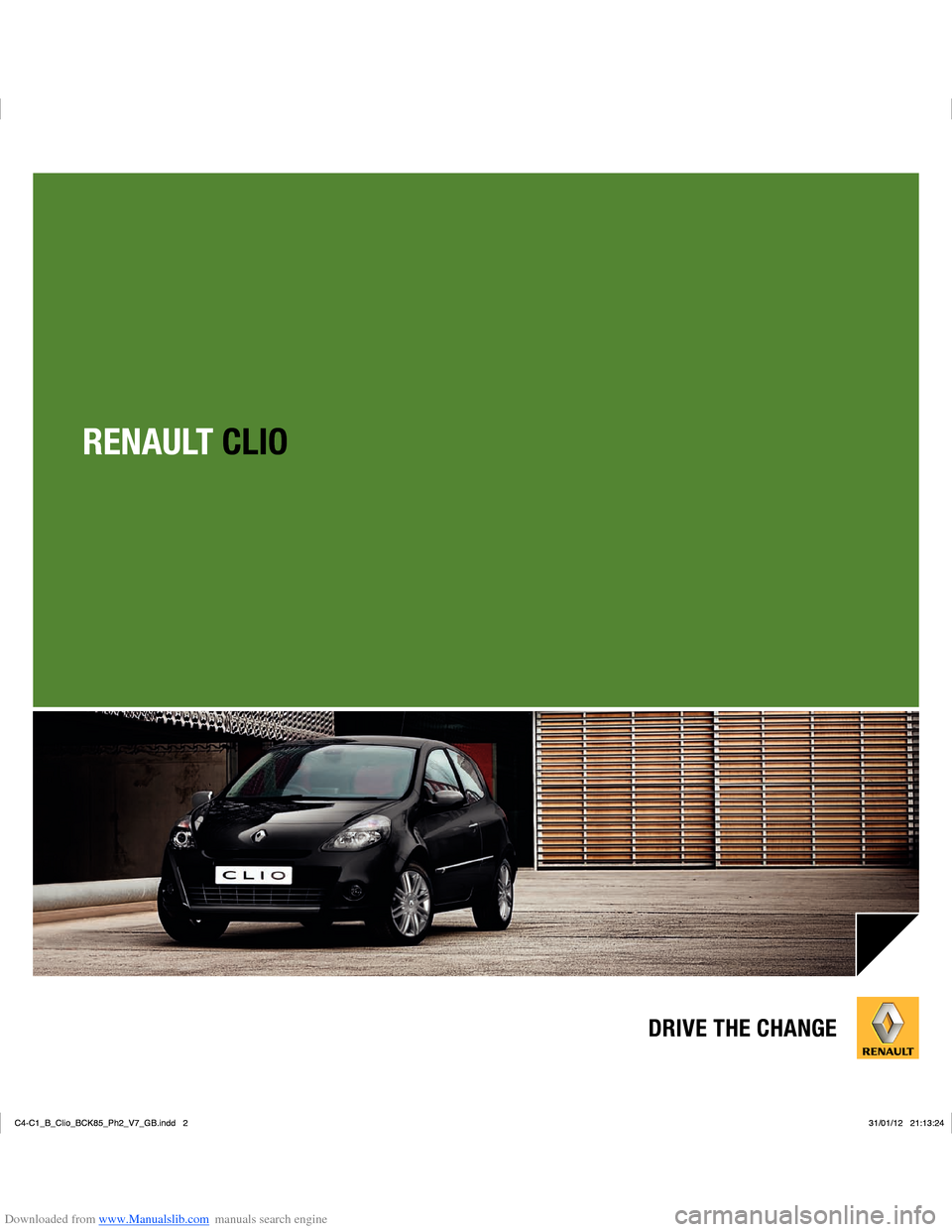 RENAULT CLIO 2012 X85 / 3.G User Manual, Page 1