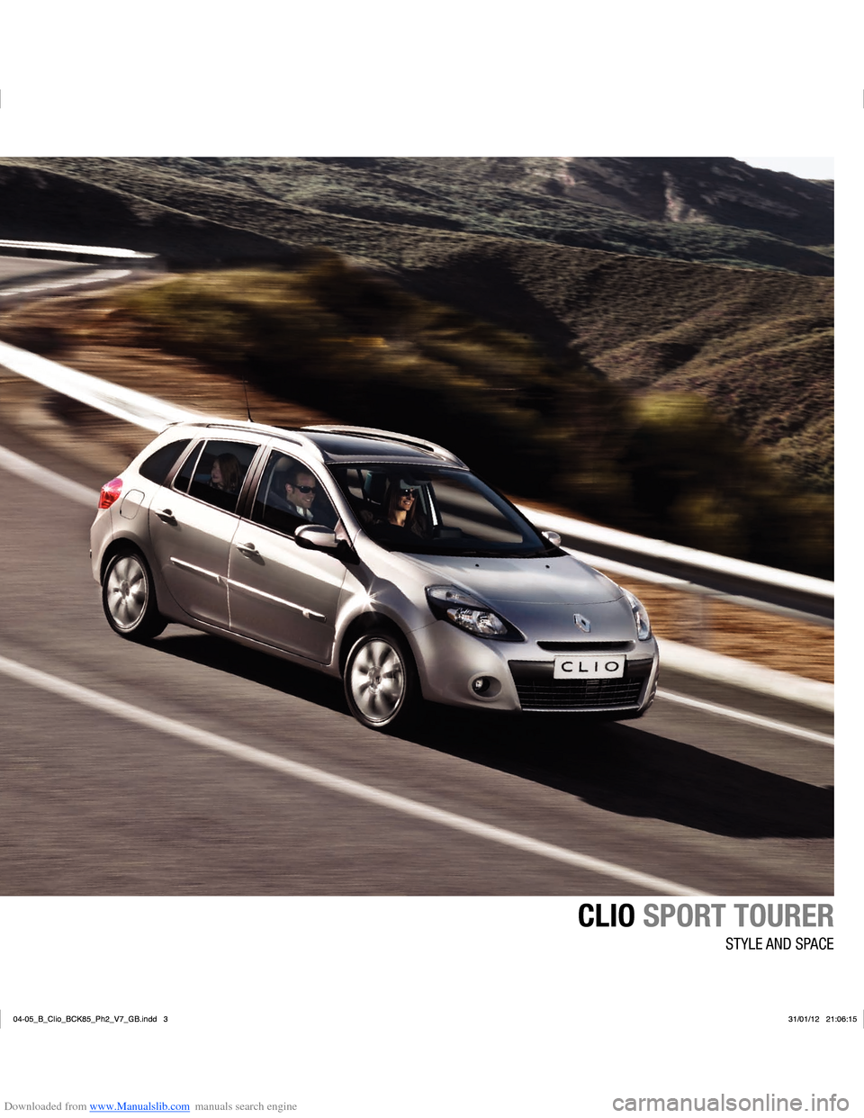 RENAULT CLIO 2012 X85 / 3.G User Manual, Page 7
