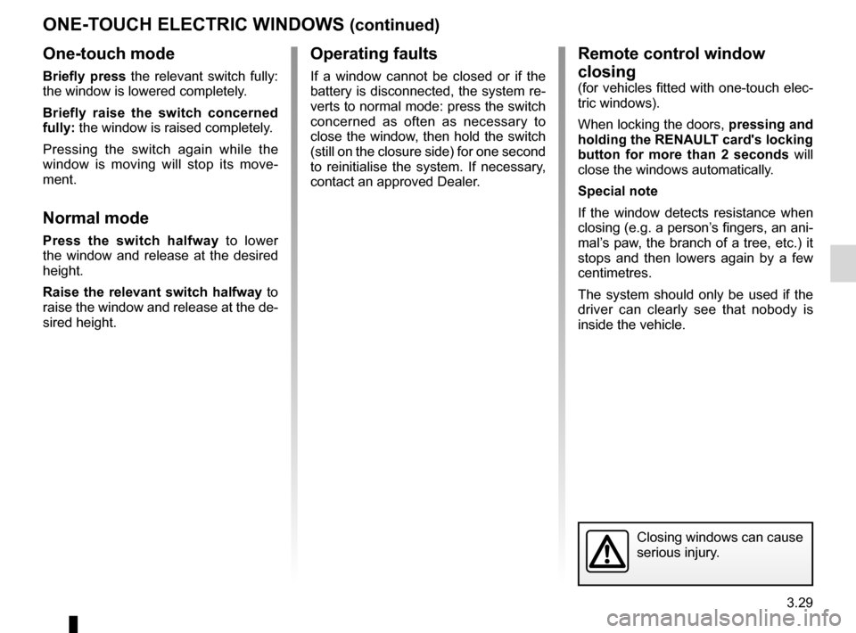 RENAULT ESPACE 2012 J81 / 4.G Owners Manual, Page 151