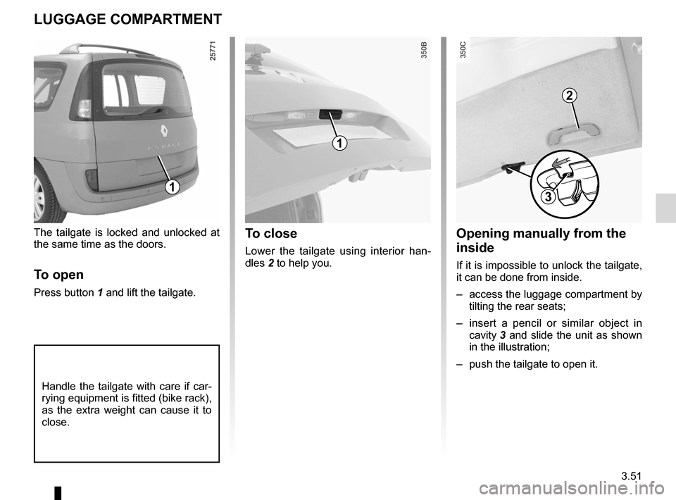 RENAULT ESPACE 2012 J81 / 4.G Owners Manual, Page 173