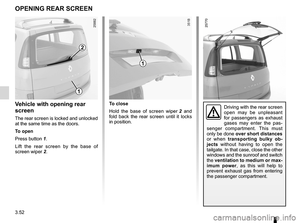 RENAULT ESPACE 2012 J81 / 4.G Owners Manual, Page 174