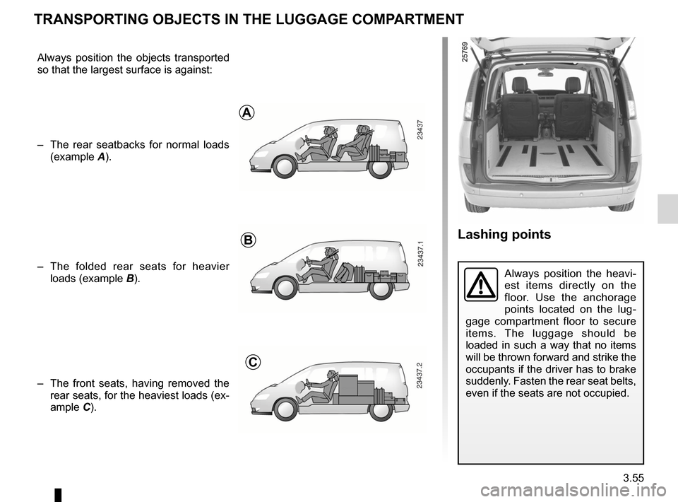 RENAULT ESPACE 2012 J81 / 4.G Owners Manual, Page 177
