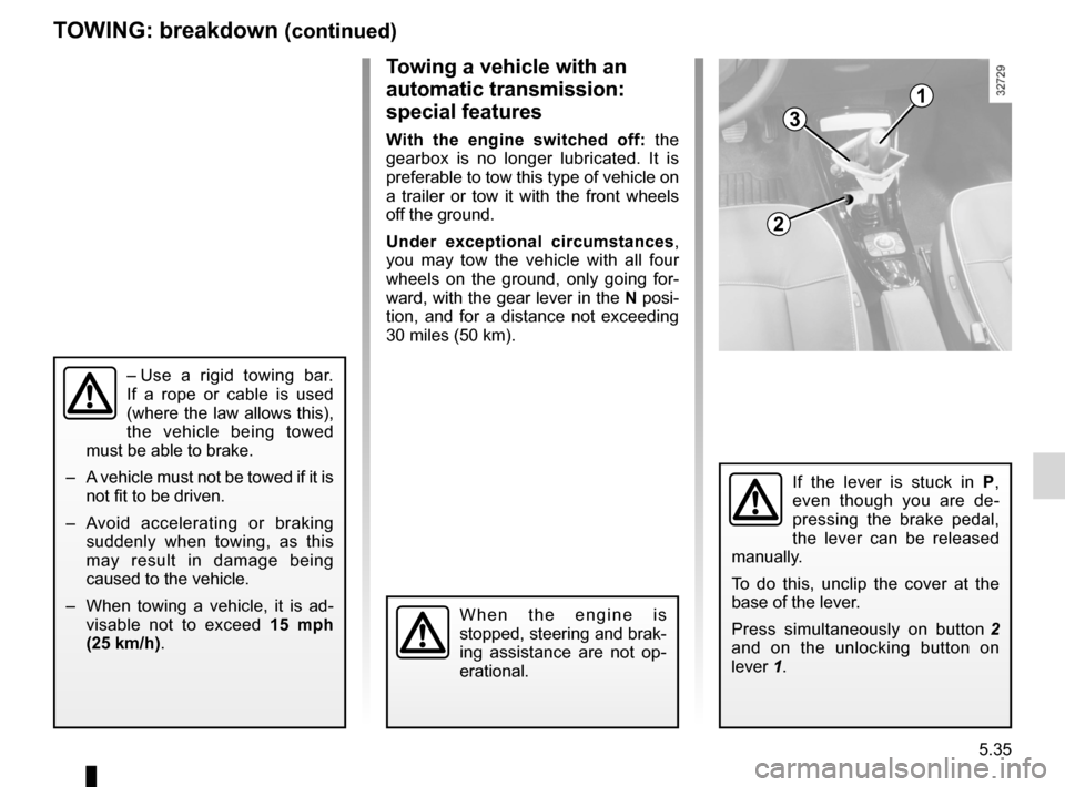 RENAULT ESPACE 2012 J81 / 4.G Owners Manual, Page 235