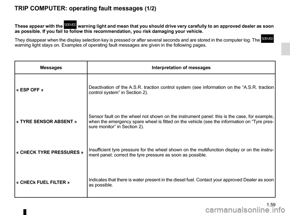 RENAULT ESPACE 2012 J81 / 4.G Owners Manual, Page 65