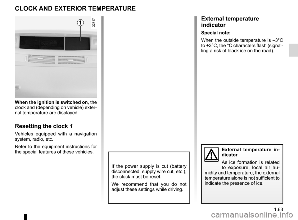 RENAULT ESPACE 2012 J81 / 4.G Owners Manual, Page 69