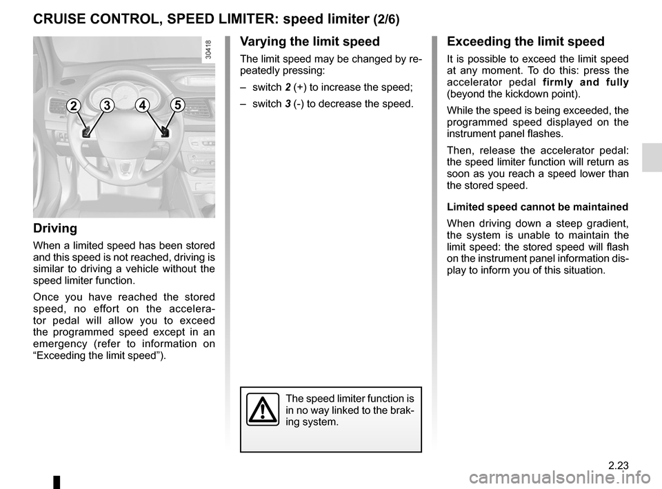 RENAULT FLUENCE 2012 1.G Owners Manual, Page 111