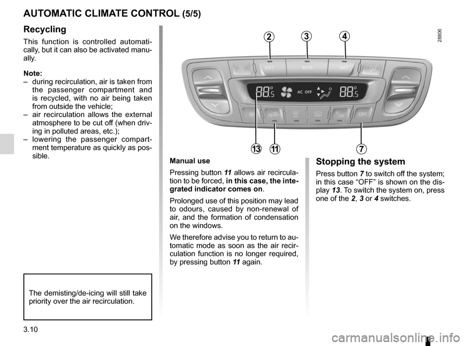 RENAULT FLUENCE 2012 1.G Owners Manual, Page 138