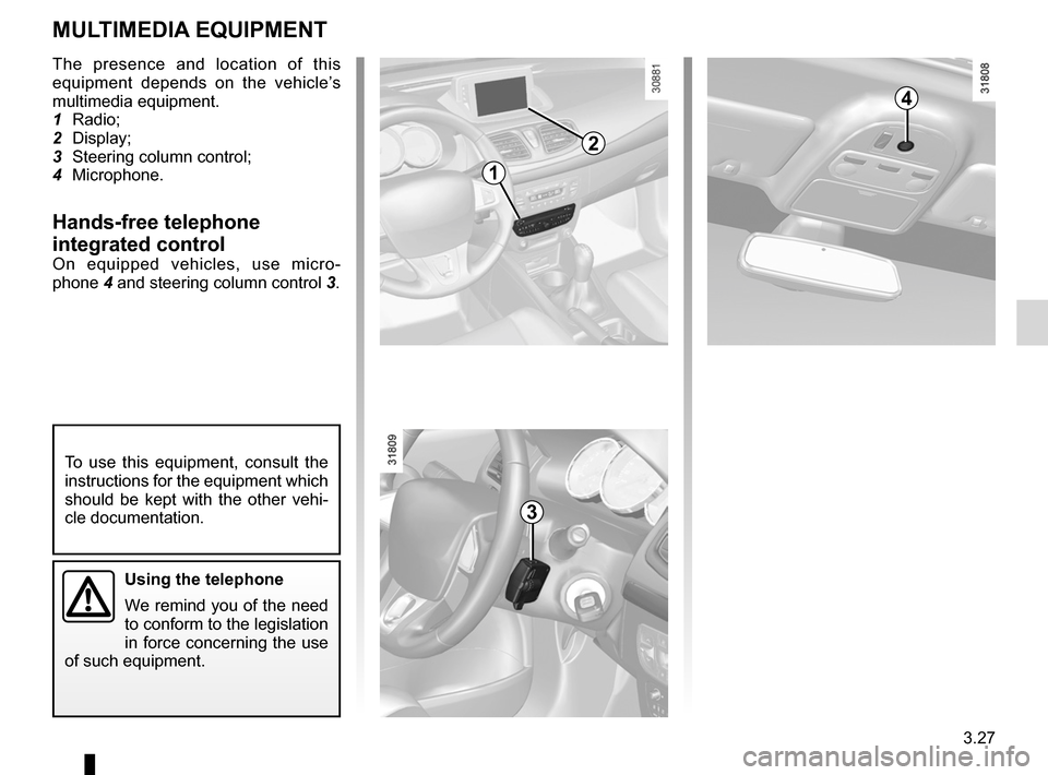 RENAULT FLUENCE 2012 1.G Owners Manual, Page 155