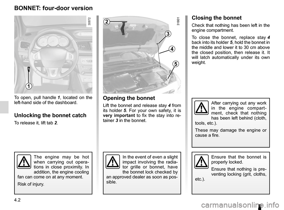 RENAULT FLUENCE 2012 1.G Owners Manual, Page 158