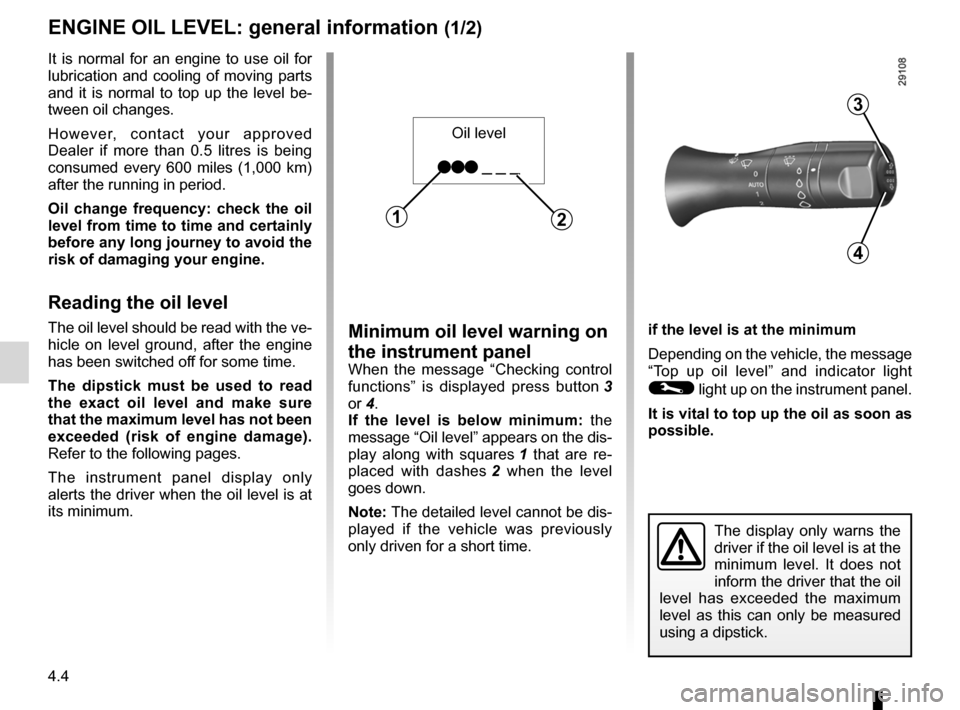 RENAULT FLUENCE 2012 1.G Owners Manual, Page 160