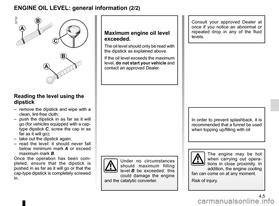 RENAULT FLUENCE 2012 1.G Owners Manual, Page 161