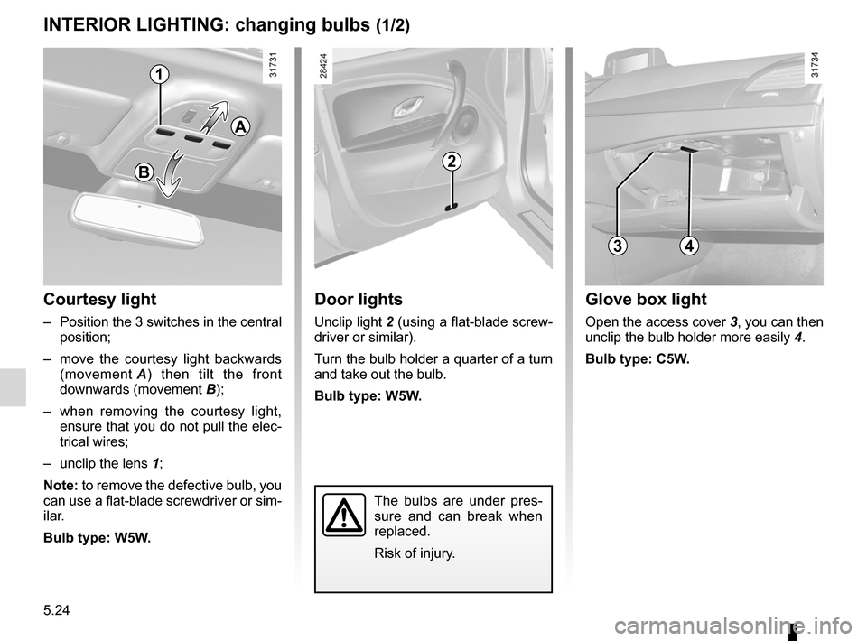 RENAULT FLUENCE 2012 1.G Owners Manual, Page 196