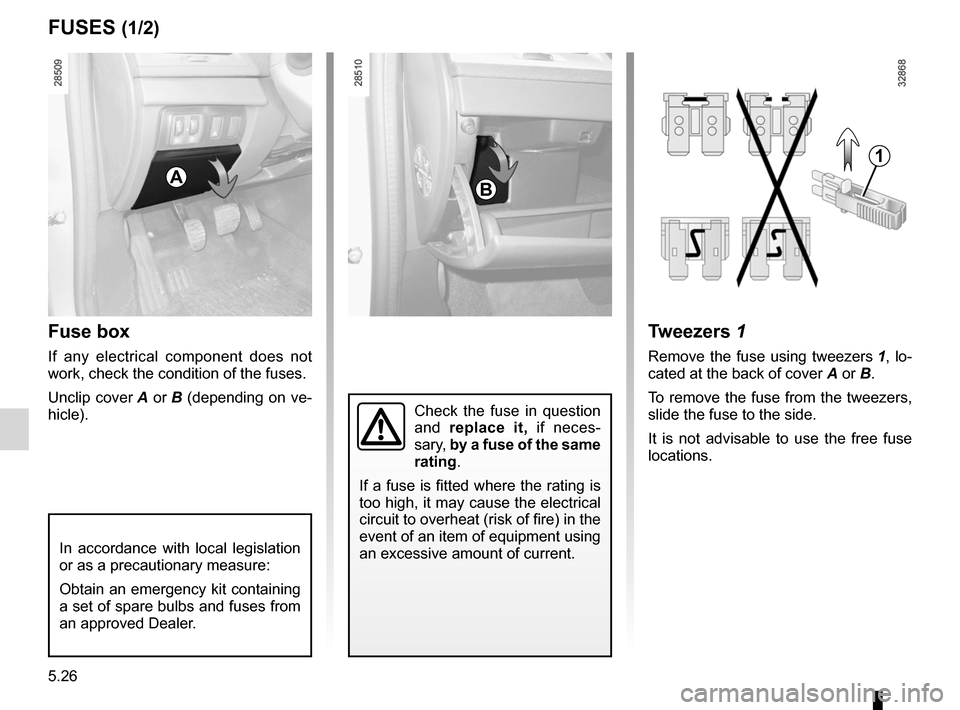 RENAULT FLUENCE 2012 1.G Owners Manual, Page 198