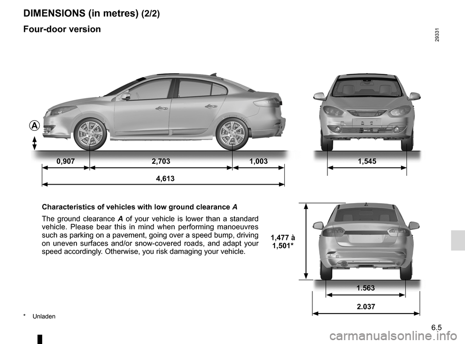 RENAULT FLUENCE 2012 1.G Owners Manual, Page 221