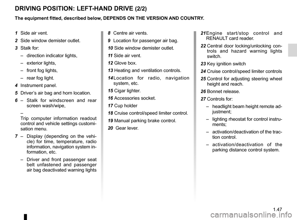RENAULT FLUENCE 2012 1.G Owners Manual, Page 51