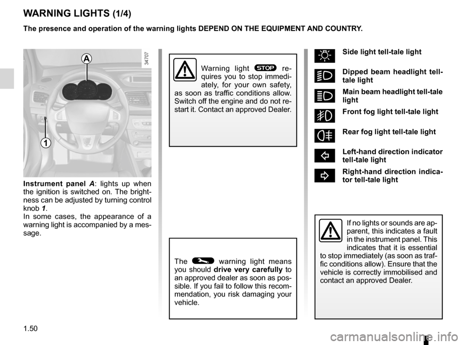 RENAULT FLUENCE 2012 1.G Owners Manual, Page 54