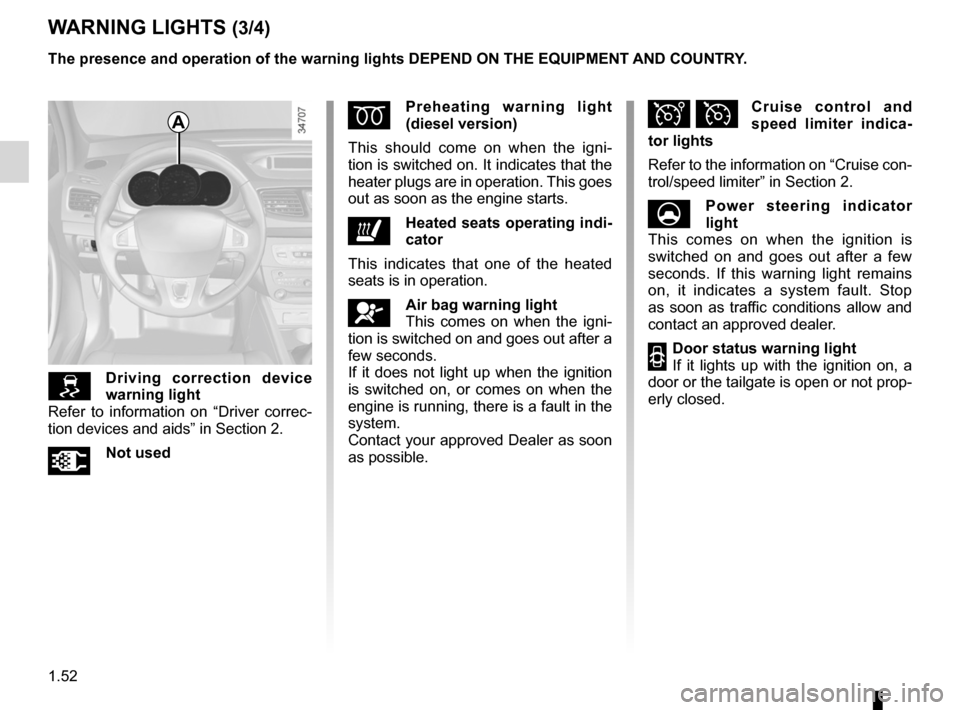 RENAULT FLUENCE 2012 1.G Owners Manual, Page 56