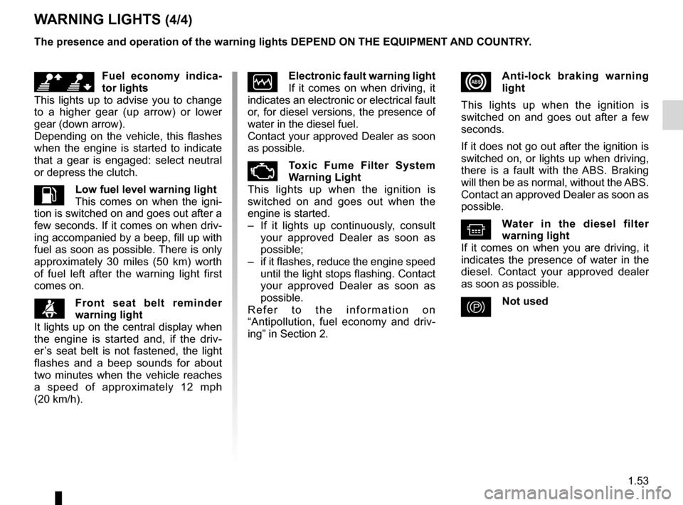 RENAULT FLUENCE 2012 1.G Owners Manual, Page 57