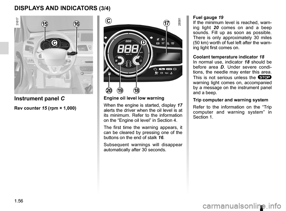 RENAULT FLUENCE 2012 1.G Owners Manual, Page 60