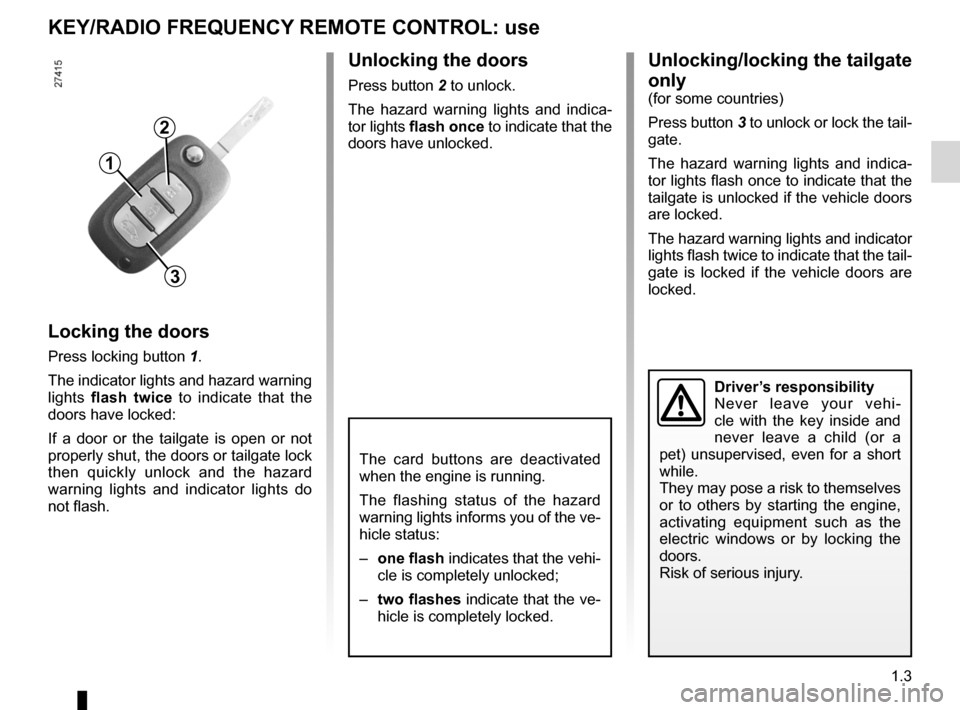 RENAULT FLUENCE 2012 1.G Owners Manual, Page 7