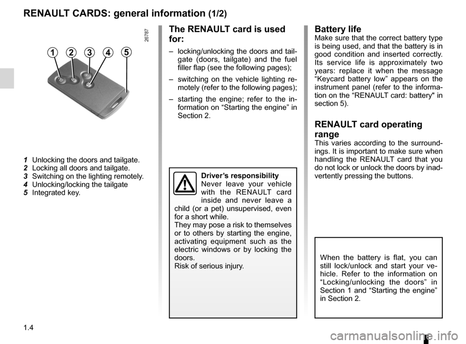RENAULT FLUENCE 2012 1.G Owners Manual, Page 8