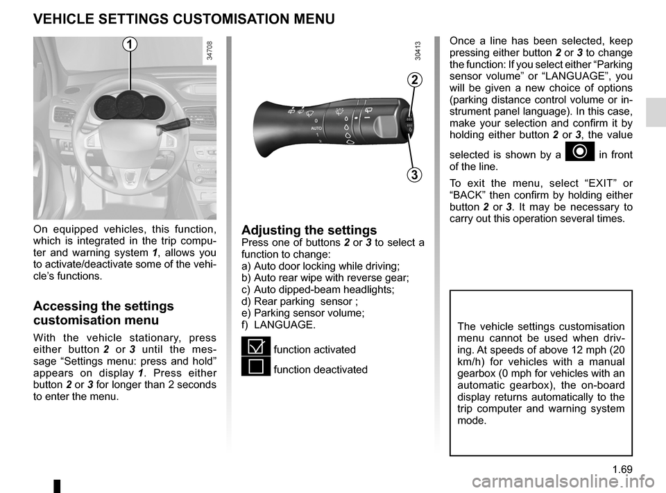 RENAULT FLUENCE 2012 1.G Owners Manual, Page 73
