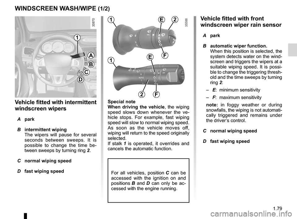 RENAULT FLUENCE 2012 1.G Owners Manual, Page 83