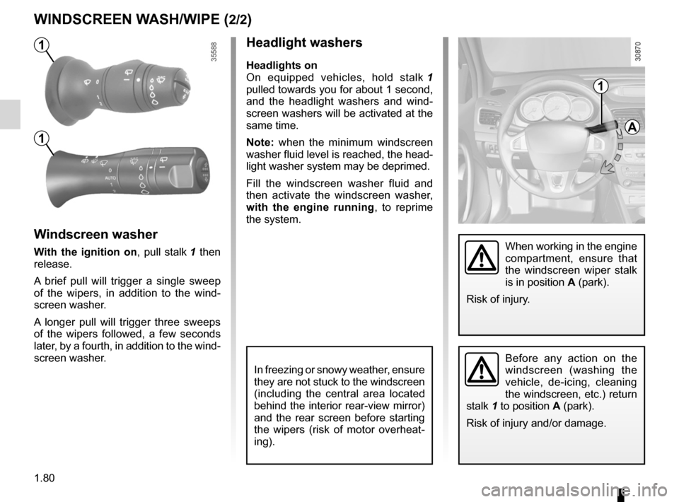 RENAULT FLUENCE 2012 1.G Owners Manual, Page 84