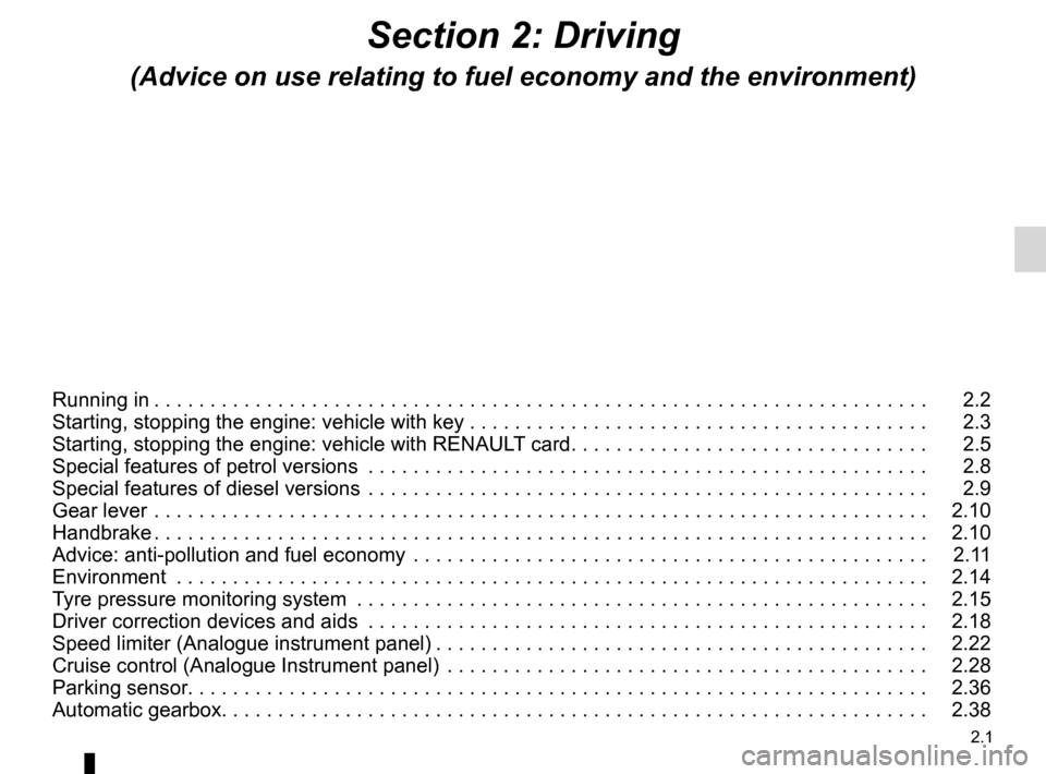 RENAULT FLUENCE 2012 1.G Owners Manual, Page 89