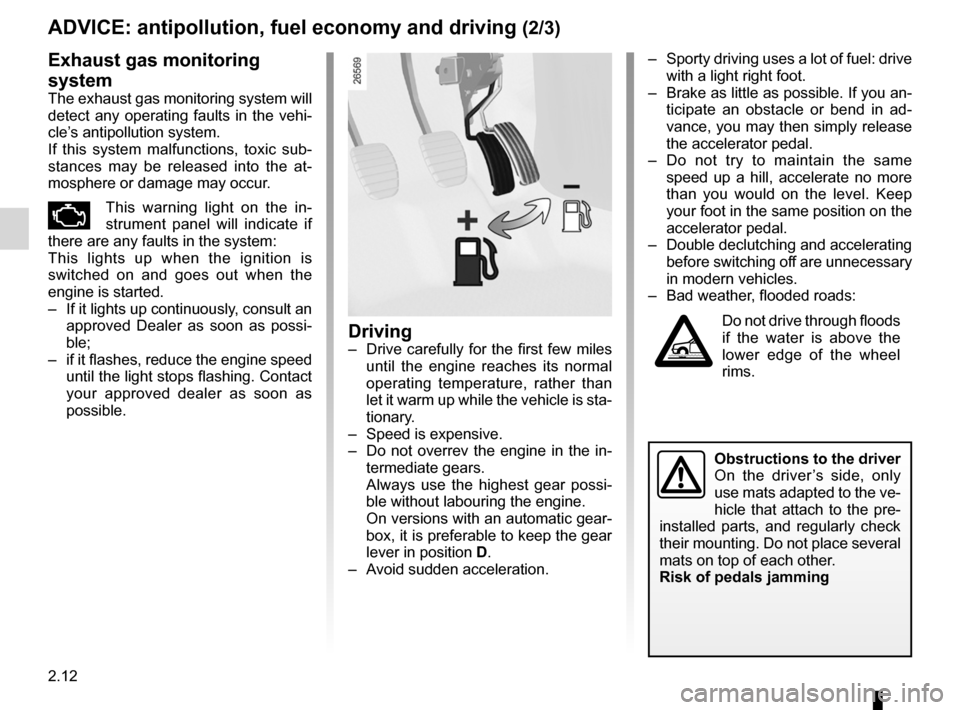 RENAULT FLUENCE 2012 1.G Owners Manual, Page 100