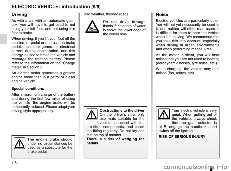 RENAULT FLUENCE ZERO EMISSION 2012 1.G Owners Manual, Page 11