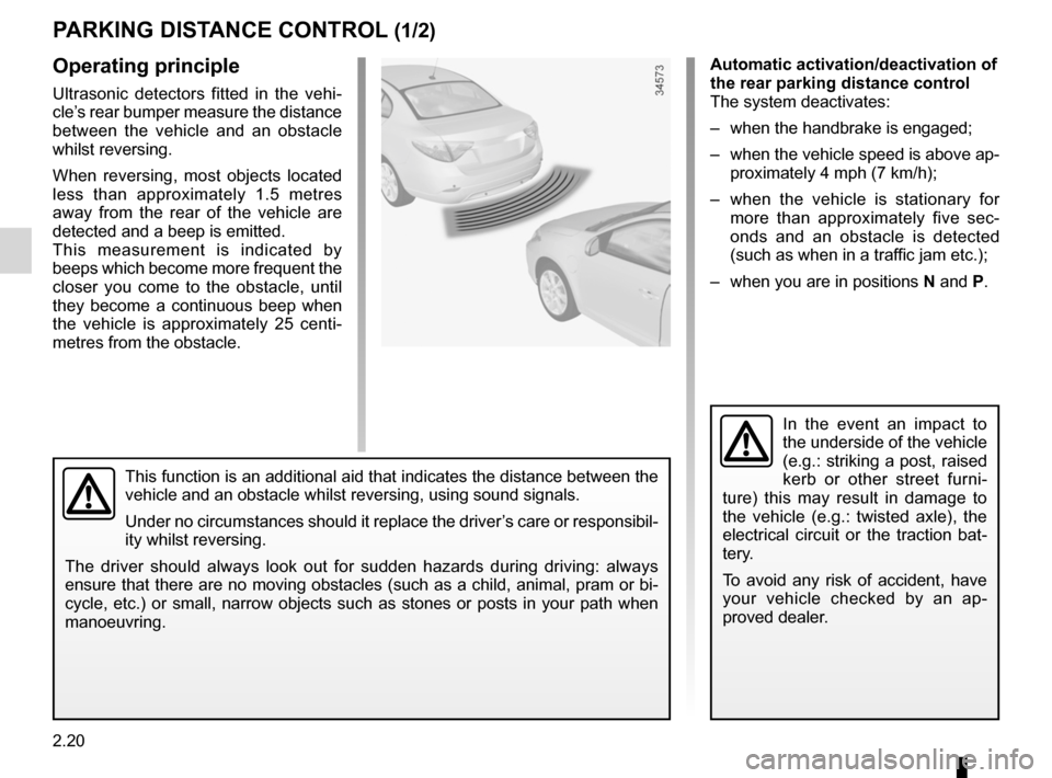 RENAULT FLUENCE ZERO EMISSION 2012 1.G Owners Manual, Page 101