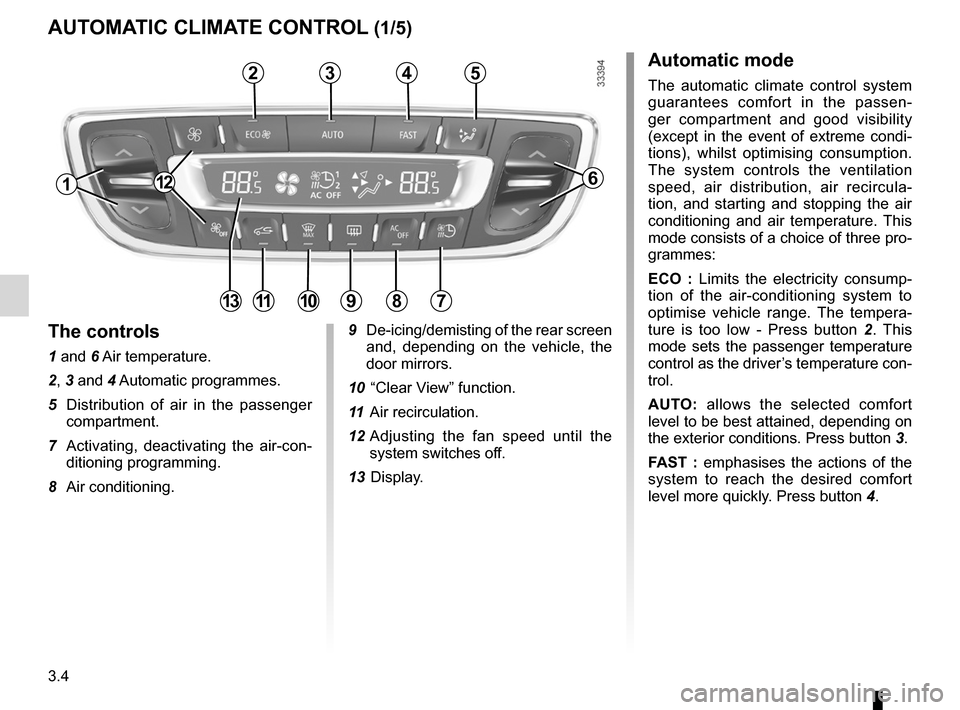 RENAULT FLUENCE ZERO EMISSION 2012 1.G Owners Manual, Page 107